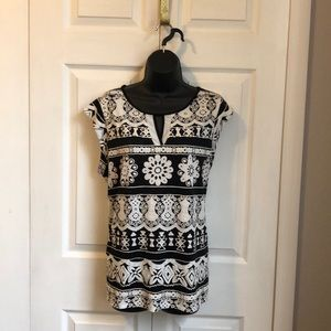 PerSeption Concept Womens XL black and white top